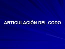 ARTICULACION DEL CODO EXPOSICION
