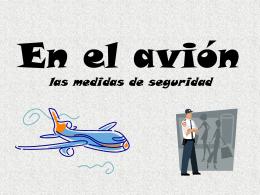 En el avión