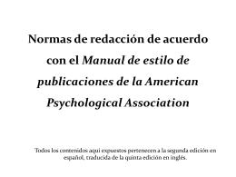 Normas APA - Universidad Argentina John F. Kennedy