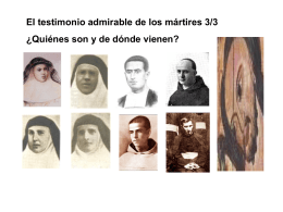 El Testimonio admirable de los mártires 3/3