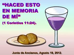 """""""HACED ESTO EN MEMORIA DE MÍ"""""""