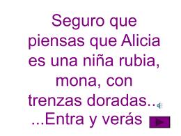 El personaje de Alicia - Fundación Alonso Quijano