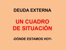 situación de la deuda hoy - Iglesia Luterana Salvadoreña.