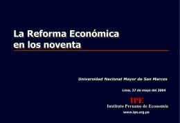 La Reforma Económica en los noventa