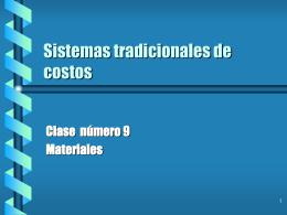Sistemas tradicionales de costos