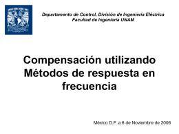 Compensación utilizando Métodos de respuesta en