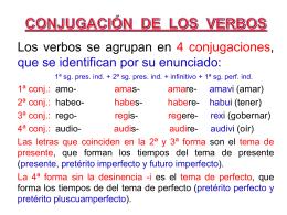 6. Conjugaciones de los verbos