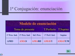 Conjugación 1ª - IES Fuente de la Peña