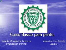 CURSO BASICO CRIMINALISTA