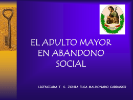 EL ADULTO MAYOR EN ABANDONO SOCIAL (PPTminimizer)