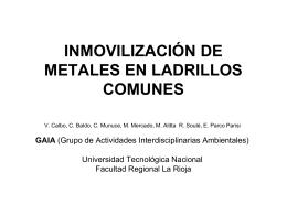 inmovilización de metales en ladrillos comunes - UTN