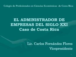 EL ADMINISTRADOR DE EMPRESAS DEL SIGLO XXI Caso de