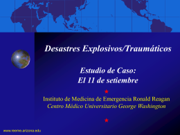 Desastres explosivos/traumáticos