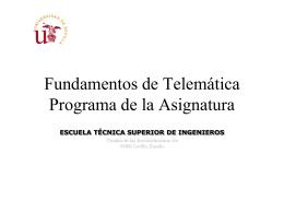 Tema0Programa - Departamento de Ingeniería Telemática
