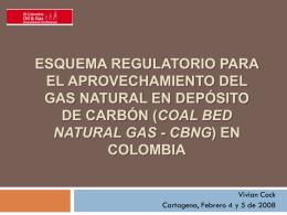 esquema regulatorio para el aprovechamiento del gas