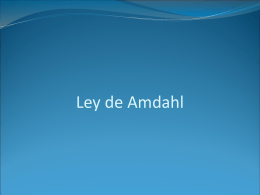 Ley de Amdahl - Universidad de Sonora
