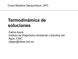 Termodinámica de soluciones