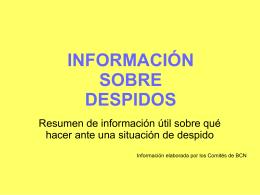 información ante amenaza despido