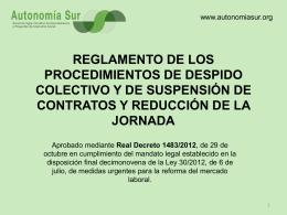 reglamento de los procedimientos de despido