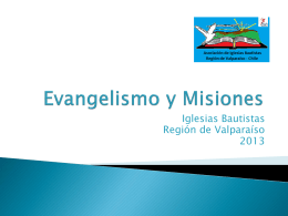 Evangelismo y Misiones