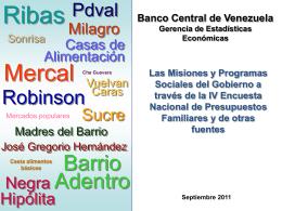 IV ENPF: Misiones y programas sociales del Gobierno