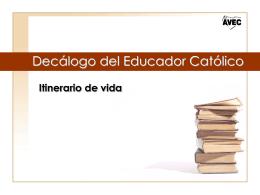 Decálogo del Educador Católico