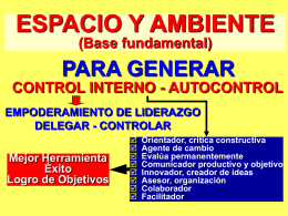 ESPACIO Y AMBIENTE (Base fundamental)