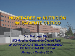 Nutrición Enteral en UCI: ¿Novedades?.