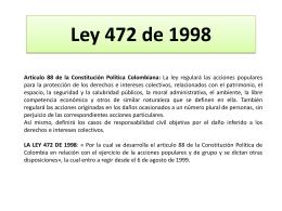 LA LEY 472 DE 1998 - Universidad Sergio Arboleda