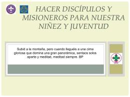 DISCIPULOS Y MAESTROS