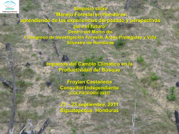 I Congreso sobre Investigación Forestal