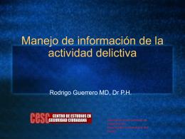 Rodrigo Guerrero-Informacion activ delictiva