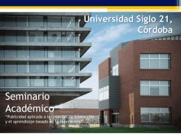 Universidad Siglo 21, Córdoba