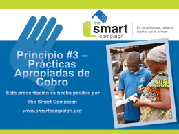 Practicas Apropiadas de Cobro - Center for Financial Inclusion blog