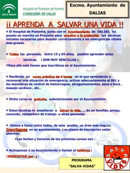 cartel anunciadorDALIAS