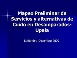 Presentación, Cuido, UNICEF, INAMU, Mapeo