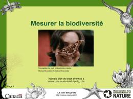 Mesurer la biodiversité - Musée canadien de la nature