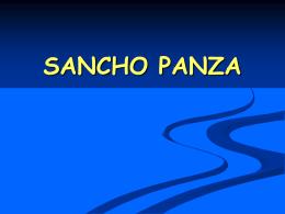 Personalidad de Sancho Panza