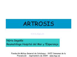 ARTROSI - Mútua General de Catalunya
