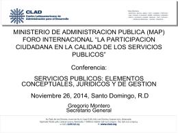1. Conferencia Seminario Servicios Publicos
