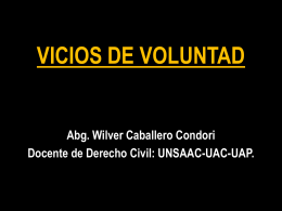 vicios de voluntad