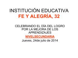 celebrando el día del logro por la mejora de los aprendizajes