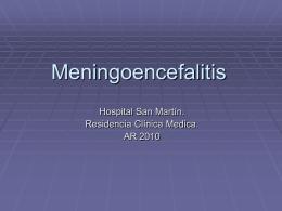 Meningoencefalitis - Blog de la Residencia de Clínica