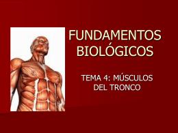 FUNDAMENTOS BIOLÓGICOS