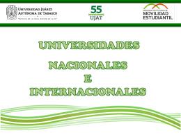 Nacionales - Universidad Juárez Autónoma de Tabasco
