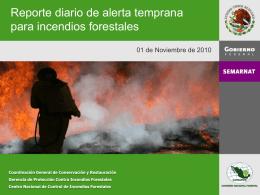 PowerPoint Template - Sistema de información sobre incendios