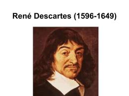 René Descartes (1596-1649)