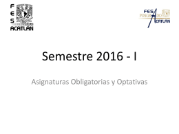 Asignaturas Semestre 2016