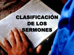 clasificación de los sermones