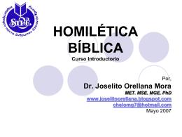 HOMILÉTICA BÍBLICA - Movimiento Misionero Mundial 20 de Julio